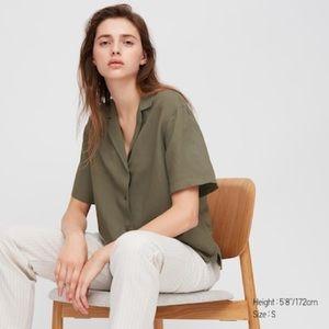Uniqlo Linen Short Sleeve Shirt NWT